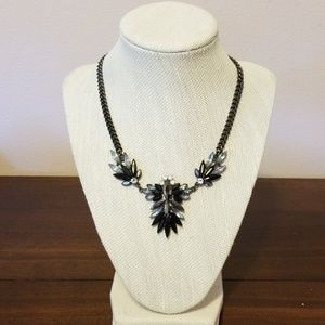 Black and gray statement necklace